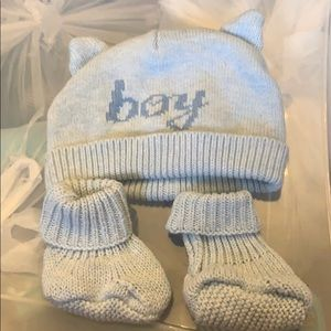Other - Booties and hat. Size 0-6 months.